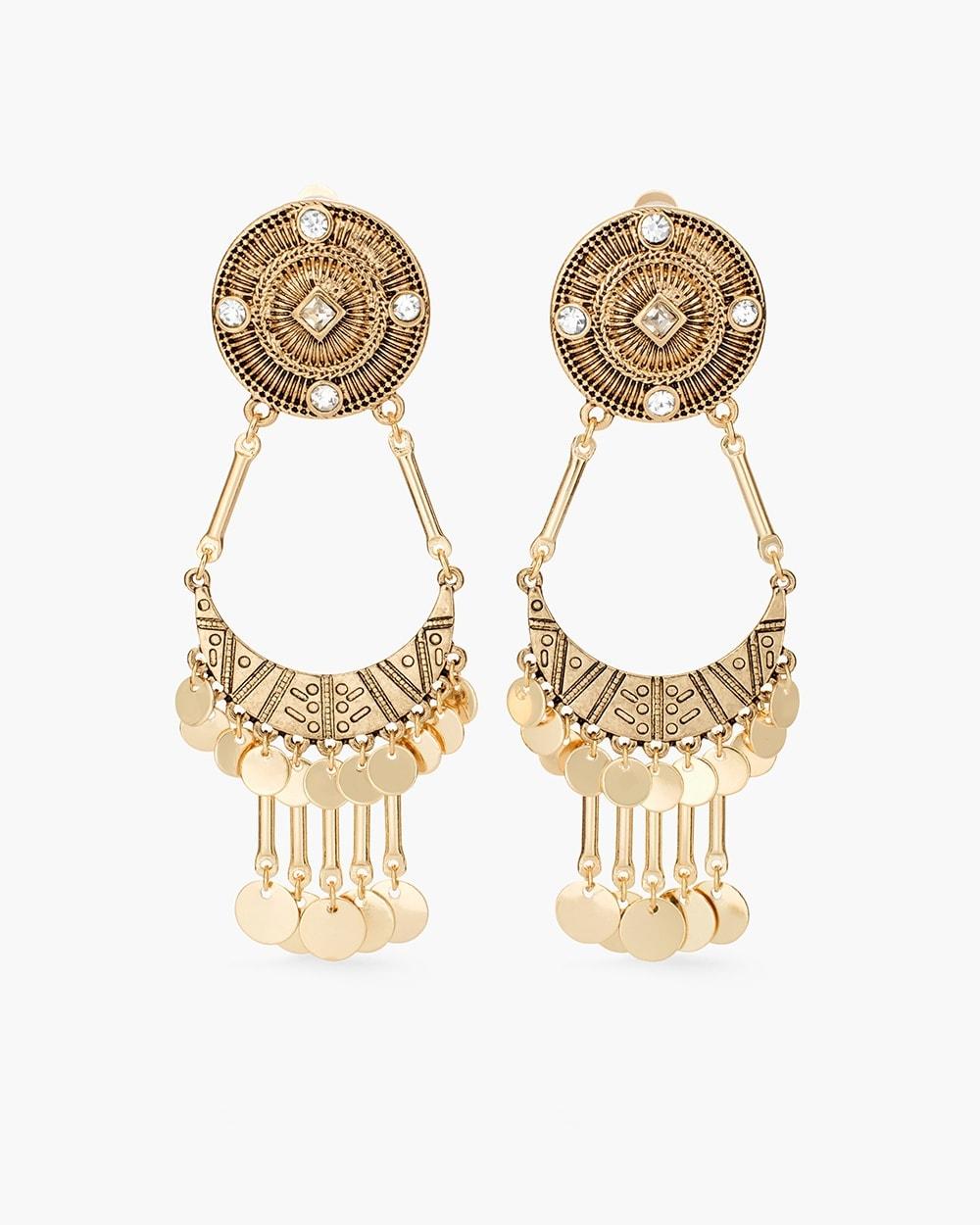 Gigi clip on chandelier earrings chicos gigi clip on chandelier earrings aloadofball Choice Image