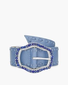 Chico's Blue Buckle Belt | Tuggl