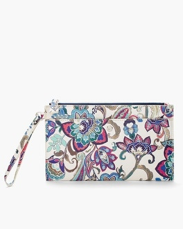 Chico's Bold Flowers Pouch | Tuggl