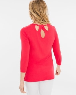 Chico's Back-Detail Top | Tuggl