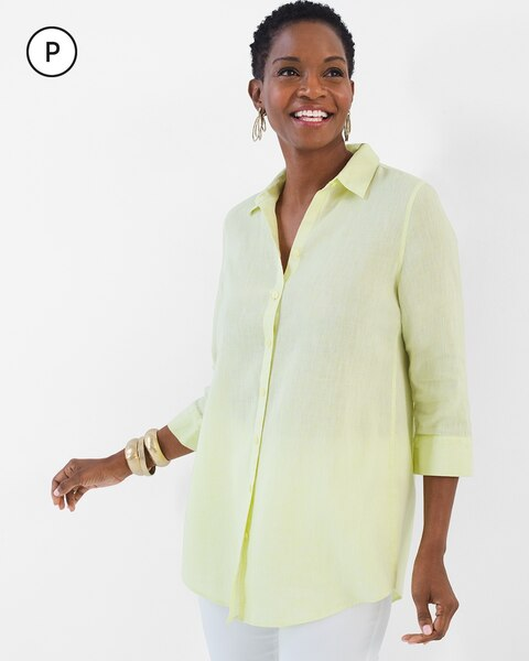 231585cb Return to thumbnail image selection Petite Linen Loop-Back Tunic video  preview image, click to start video
