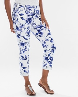 Chico's Floral Girlfriend Crops | Tuggl