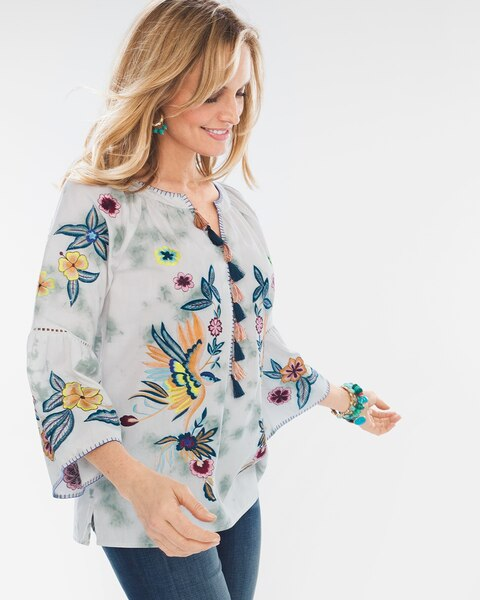783eb5c4bd Embroidered Birds Top - Chico's