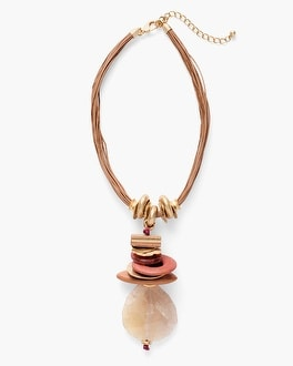 Chico's Rose Short Pendant Necklace | Tuggl