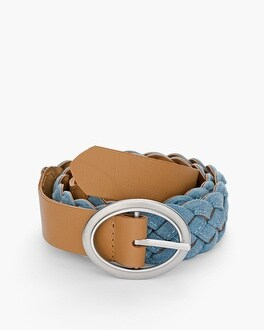 Chico's Reversible Chambray Belt at Chico's in Brooklyn, NY | Tuggl