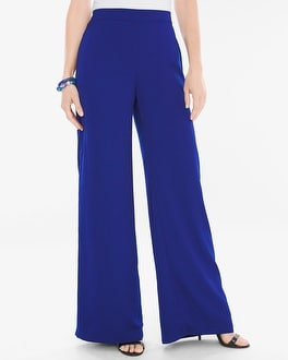 Chico's Woven Palazzo Pants at Chico's in Brooklyn, NY | Tuggl