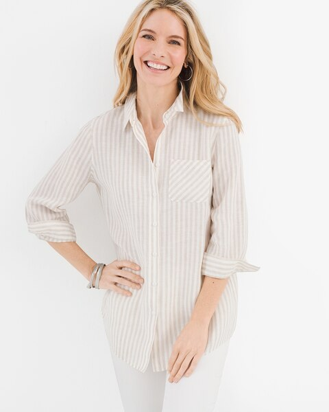 5ba46561 Linen Striped Shirt - Chico's