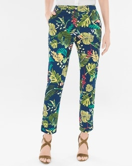 Chico's Comfort Waist Luxe Utility Tropical Ankle Pants | Tuggl