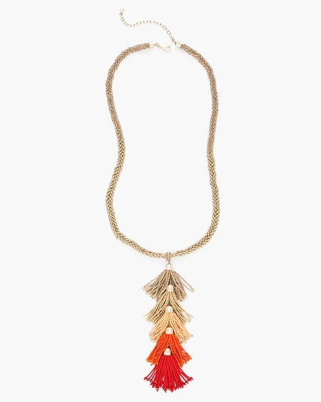 Jewelry necklaces chicos warm seed bead tassel pendant necklace aloadofball Gallery