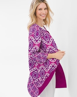 Chico's Reversible Crushed Ikat Jacket at Chico's in Brooklyn, NY | Tuggl