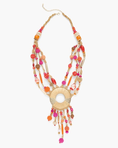 Jewelry necklaces chicos warm seed bead pendant necklace aloadofball Gallery