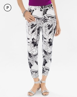 Chico's Petite Sateen Palm Springs Floral Slim Crops at Chico's in Brooklyn, NY | Tuggl