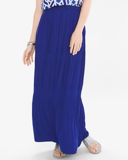 Chico's Crinkled Maxi Skirt at Chico's in Brooklyn, NY | Tuggl