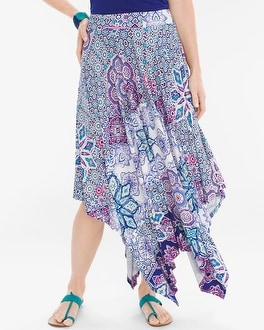 Chico's Tiled Geo Maxi Skirt at Chico's in Brooklyn, NY | Tuggl