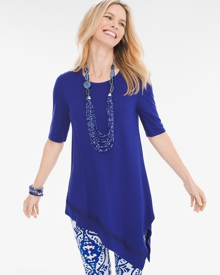 Asymmetrical Crochet-Hem Tunic