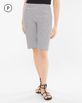 Chico's Petite Brigitte Geometric Dot Shorts- 11.75 Inch Inseam at Chico's in Brooklyn, NY | Tuggl