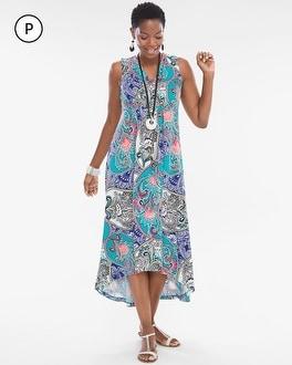 Chico's Petite Artistic Paisley Maxi Dress   Tuggl