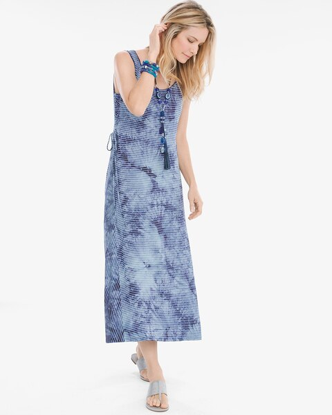 9112980a808 Return to thumbnail image selection Tie-Dye Striped Dress video preview  image