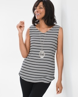 Chico's Four-Way Reversible Striped-Geometric Dot Tank at Chico's in Brooklyn, NY | Tuggl