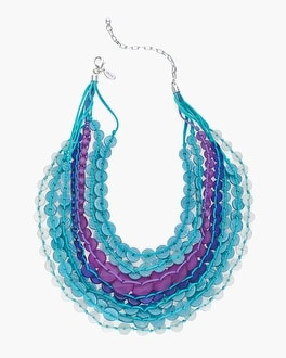 Chico's Cool Multi-Strand Disc Necklace | Tuggl