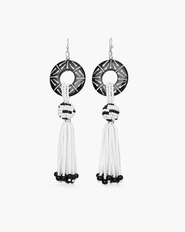 Chico's Black and White Chandelier Earrings   Tuggl
