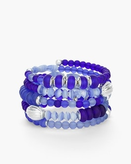 Chico's Blue Beaded Coil Bracelet at Chico's in Auburn, GA | Tuggl