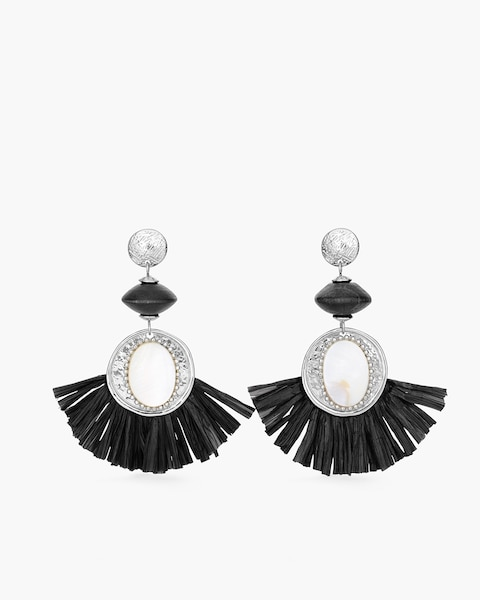 Black and white small chandelier earrings chicos black and white small chandelier earrings aloadofball Gallery