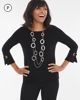 Chico's Petite Grommet-Sleeve Top at Chico's in Brooklyn, NY | Tuggl