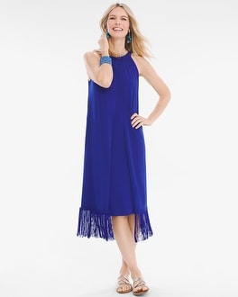 Chico's Fringed-Hem Dress at Chico's in Brooklyn, NY | Tuggl
