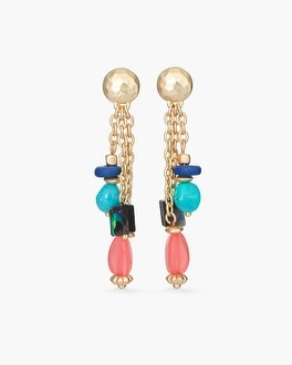 Chico's Multi-Colored Beaded Drop Earrings | Tuggl
