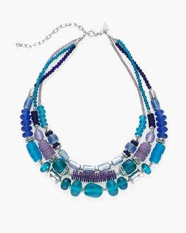 Chico's Cool and Silver-Tone Short Necklace   Tuggl
