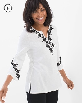 Chico's Petite Applique Tunic at Chico's in Brooklyn, NY | Tuggl