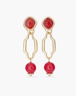 Chico's Rose Linear Drop Earrings | Tuggl