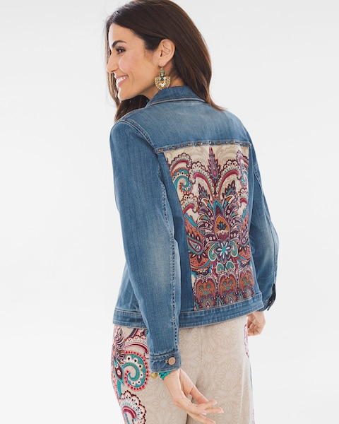 d3fcb3ba7 Paisley Denim Jacket - Chico's