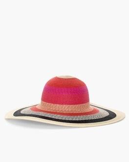 Chico's Striped Ombre Sun Hat at Chico's in Auburn, GA | Tuggl
