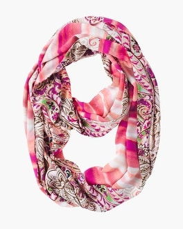 Chico's Paisley Striped Double-Print Scarf | Tuggl