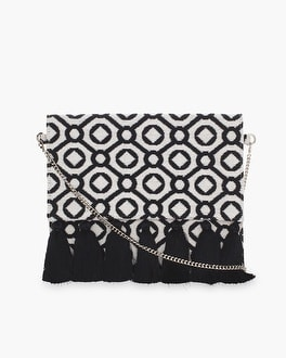 Chico's Geometric Woven Clutch at Chico's in Brooklyn, NY | Tuggl