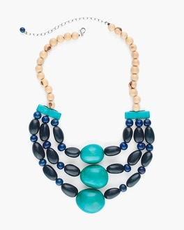 Chico's Faire Collection Blue Multi-Strand Necklace at Chico's in Auburn, GA | Tuggl