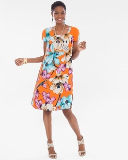 Chico's Reversible Floral-Animal Dress | Tuggl