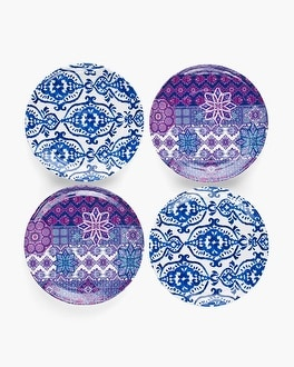 Chico's Grecian Tile Small Plate Set | Tuggl