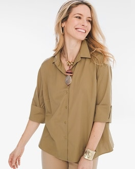 Chico's Pleat-Back Shirt | Tuggl