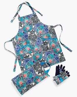 Chico's Paisley Apron Kneeler Glove Set at Chico's in Brooklyn, NY | Tuggl