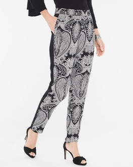 Chico's Paisley Tapered Ankle Pants at Chico's in Auburn, GA | Tuggl