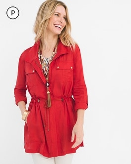 Chico's Petite Long Utility Jacket at Chico's in Auburn, GA | Tuggl
