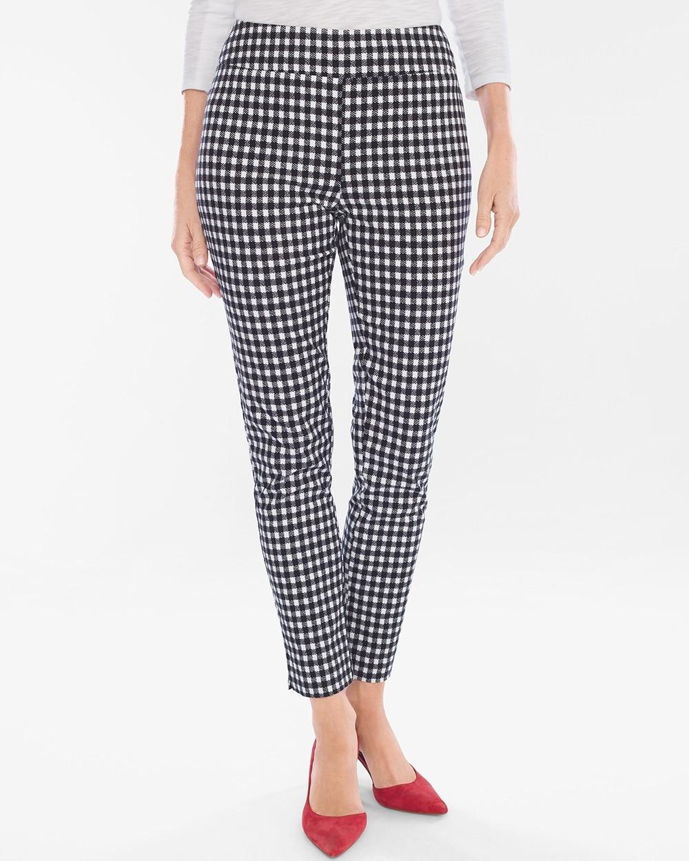 Brigitte Gingham Slim Ankle Pants by So Slimming
