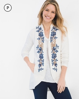 Chico's Petite Floral Embroidered Jacket at Chico's in Auburn, GA | Tuggl