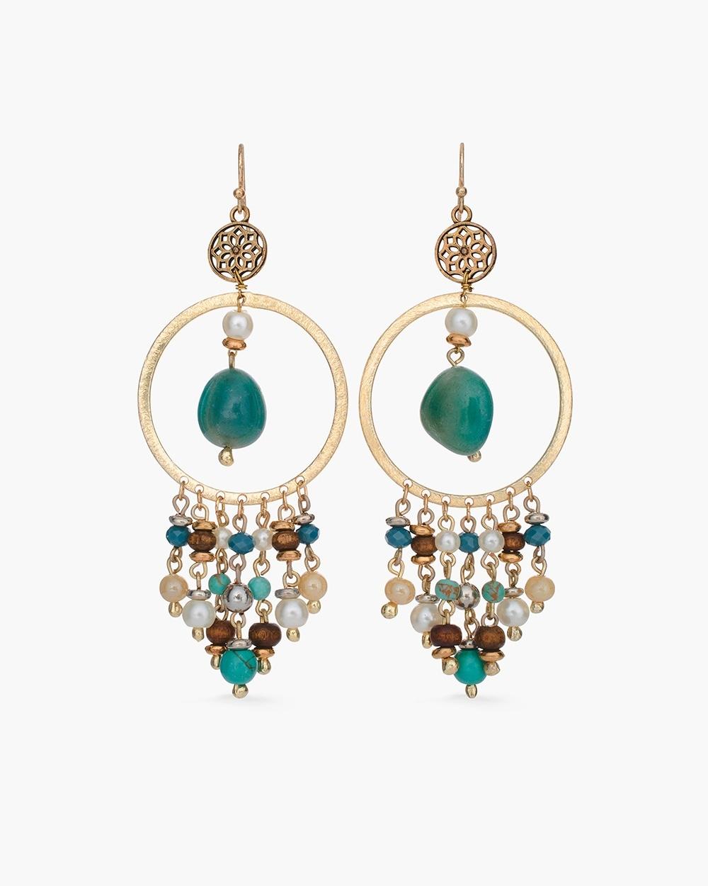 Cool Beaded Chandelier Earrings