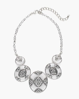 Chico's Silver-Tone Artisan Bib Necklace at Chico's in Brooklyn, NY | Tuggl