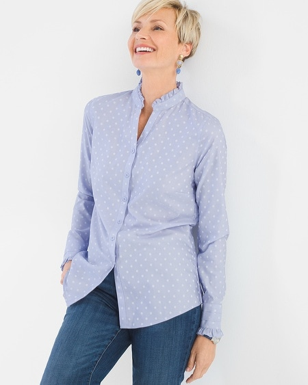 Clothing women 39 s tops chico 39 s for No iron cotton shirts