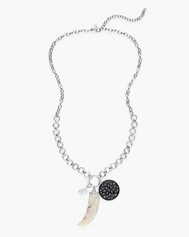 Jewelry womens necklaces chicos long crystal charm necklace aloadofball Gallery